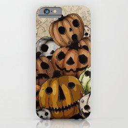 Halloween Pumpkins, a Cornucopia of Jack o' lanterns. spoopy iPhone Case