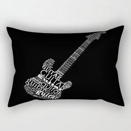 Typographic guitar Rectangular Pillow
