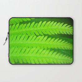 a green Fern Laptop Sleeve