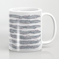 dwight schrute Mugs featuring America Feather Flag by Sitchko Igor