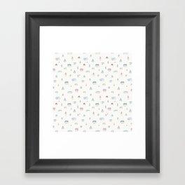 Little Houses Framed Art Print