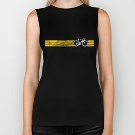 Yellow Jersey Overall Champ Bike Race Cycling White Biker Tank