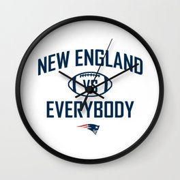 New England VS Everybody Wall Clock