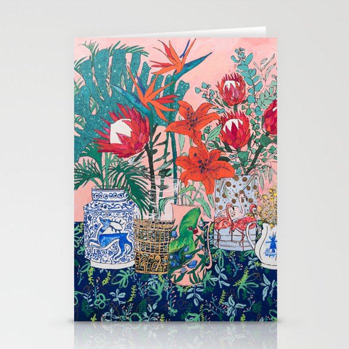 The Domesticated Jungle - Floral Still Life Stationery Cards