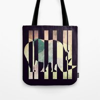 rhino Tote Bags featuring Rhino by Yasmina Baggili