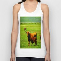 cows Tank Tops featuring The Cows  by Rachel Ernst