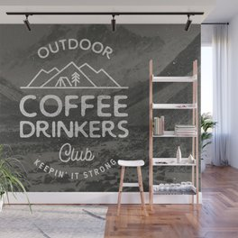 Outdoor Coffee Drinkers Club Wall Mural