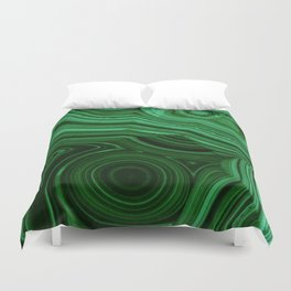 GREEN MALACHITE STONE PATTERN Duvet Cover