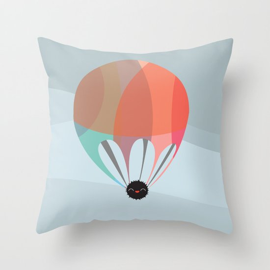 Flying Happy Dust Throw Pillow