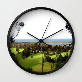 Farming on the edge of Oceans Wall Clock