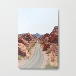 Roads Of Nevada Desert Picture | Valley Of Fire State Park Art Print | USA Travel Photography Metal Print
