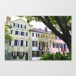 Rainbow Row in Charleston, SC Canvas Print