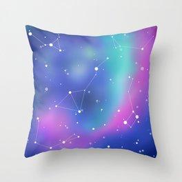 Unicorn Night Sky Throw Pillow
