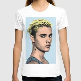 JUSTIN B blue POP ART T-shirt