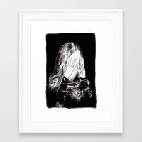 sarah paulson Framed Art Prints featuring Sarah by Taylor Wessling
