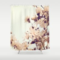 magnolia Shower Curtains featuring Magnolia by Dena Brender Photography