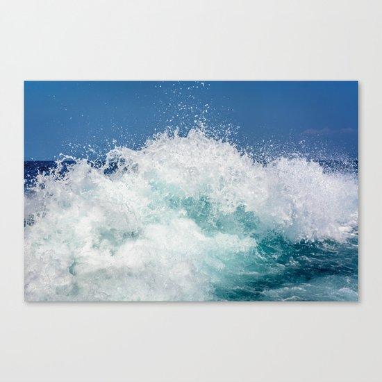 Crashing beautiful waves Canvas Print