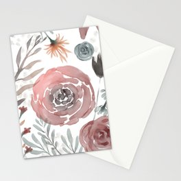 Watercolor Wildflower Stationery Cards