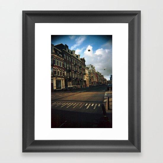 Amsterdam in Winter Framed Art Print