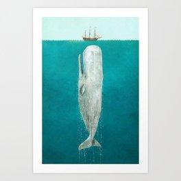 The Whale - Full Length  Art Print
