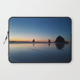 Haystack Rock Late Sunset Laptop Sleeve