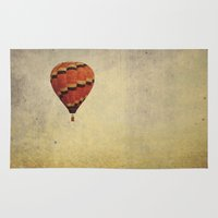 hot air balloon Area & Throw Rugs featuring Hot Air Balloon by Jo Bekah Photography