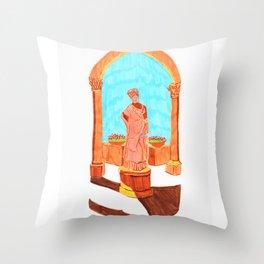 Antique lady Throw Pillow