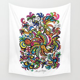 Apocalyptic Parrots Wall Tapestry