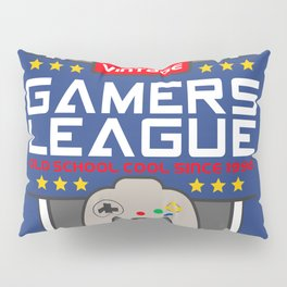 Geeky Gamer Chic Classic Vintage Gaming N64 Inspired Vintage Gamer League Old School Cool Pillow Sham