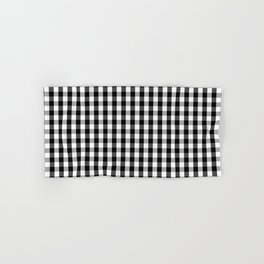 Classic Black & White Gingham Check Pattern Hand & Bath Towel