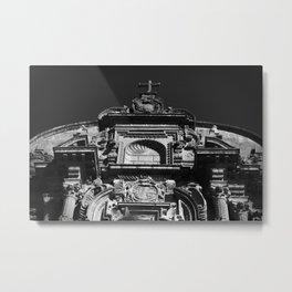 TOPPING OF CHURCH Metal Print