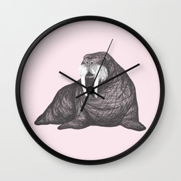 Frank Wallace in Pink Pattern Wall Clock