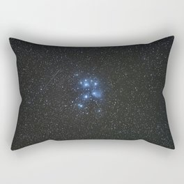 Peiades star cluster and a Orionid Meteor Rectangular Pillow