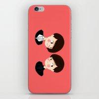 tegan and sara iPhone & iPod Skins featuring Tegan and Sara by Christina Abigail