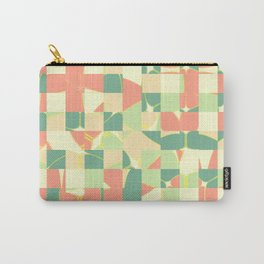 Checkered green and salmon Carry-All Pouch