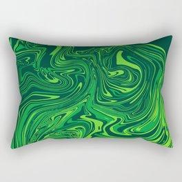 Green emerald abstract marble Rectangular Pillow