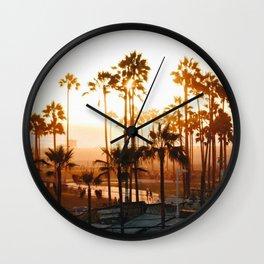 Venice Beach Photography Wall Clock