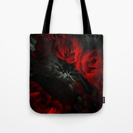 black and red rose Tote Bag