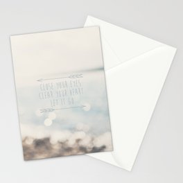 close your eyes ... clear your heart ... let go Stationery Cards