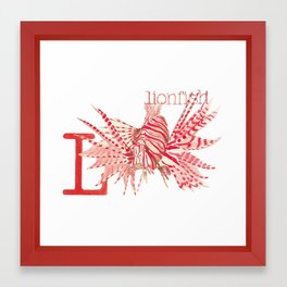 L is for Lionfish Framed Art Print