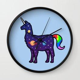 Space Llamacorn Wall Clock