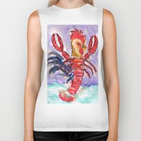 cock Biker Tanks featuring Cock Lobster by Taylor Winder