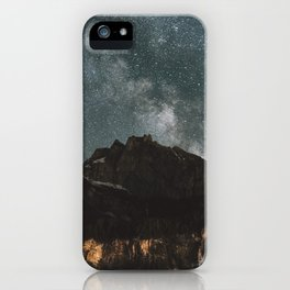 Space Night Mountains - Landscape Photography iPhone Case