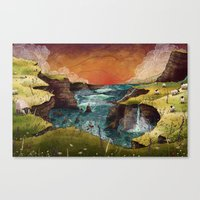 ireland Canvas Prints featuring Ireland by Taylor Rose