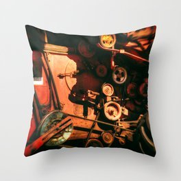 Scarlet Soviet Combine Warp Throw Pillow