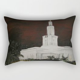 Panama City, Panama LDS Temple Rectangular Pillow