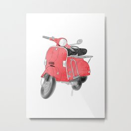 Red moto Metal Print