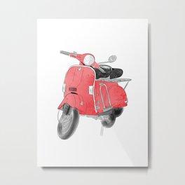 Red moto Metal Print