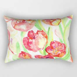 Mothers Day Tulips Rectangular Pillow