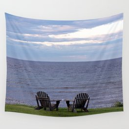 Seating by the Sea Wall Tapestry